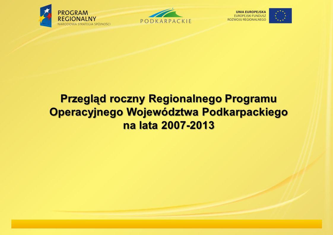 Przegląd roczny Regionalnego Programu Operacyjnego Województwa Podkarpackiego na lata 2007-2013