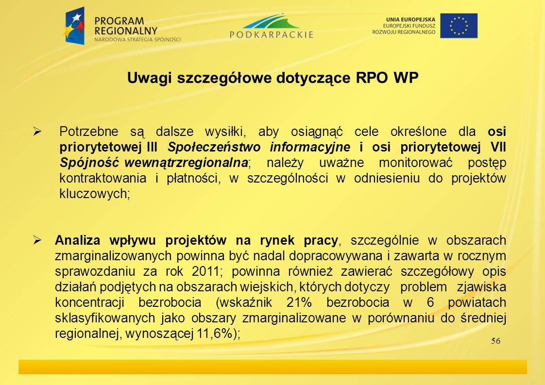 Uwagi szczegółowe dotyczące RPO WP