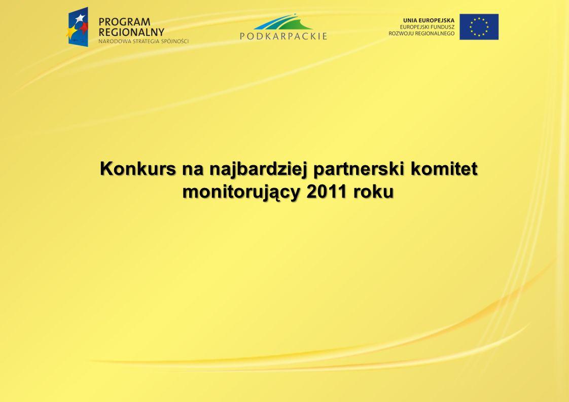 Konkurs na najbardziej partnerski komitet monitorujący 2011 roku