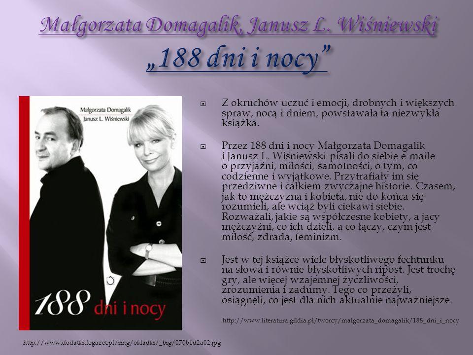"""Małgorzata Domagalik, Janusz L. Wiśniewski """"188 dni i nocy"""