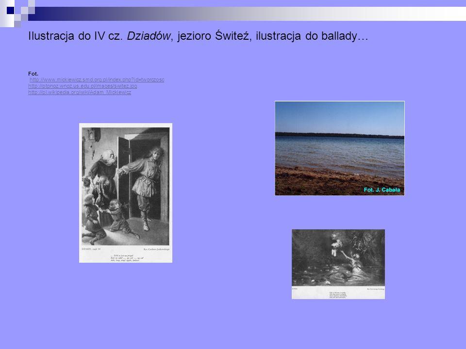 Ilustracja do IV cz. Dziadów, jezioro Świteź, ilustracja do ballady… Fot.