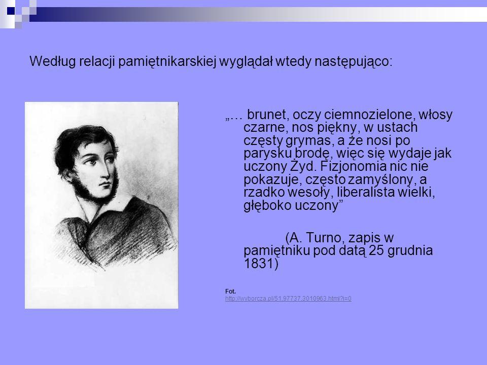 Według relacji pamiętnikarskiej wyglądał wtedy następująco: