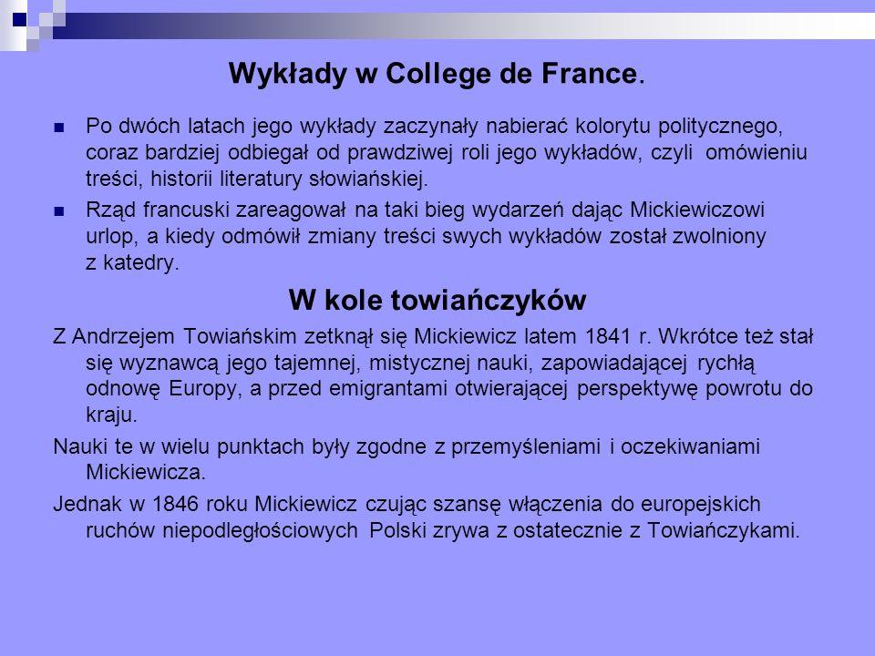 Wykłady w College de France.