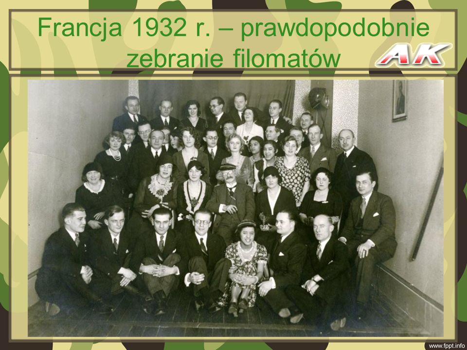 Francja 1932 r. – prawdopodobnie zebranie filomatów