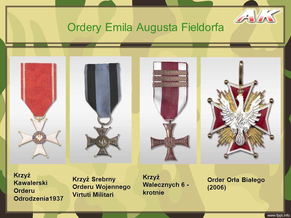 Ordery Emila Augusta Fieldorfa