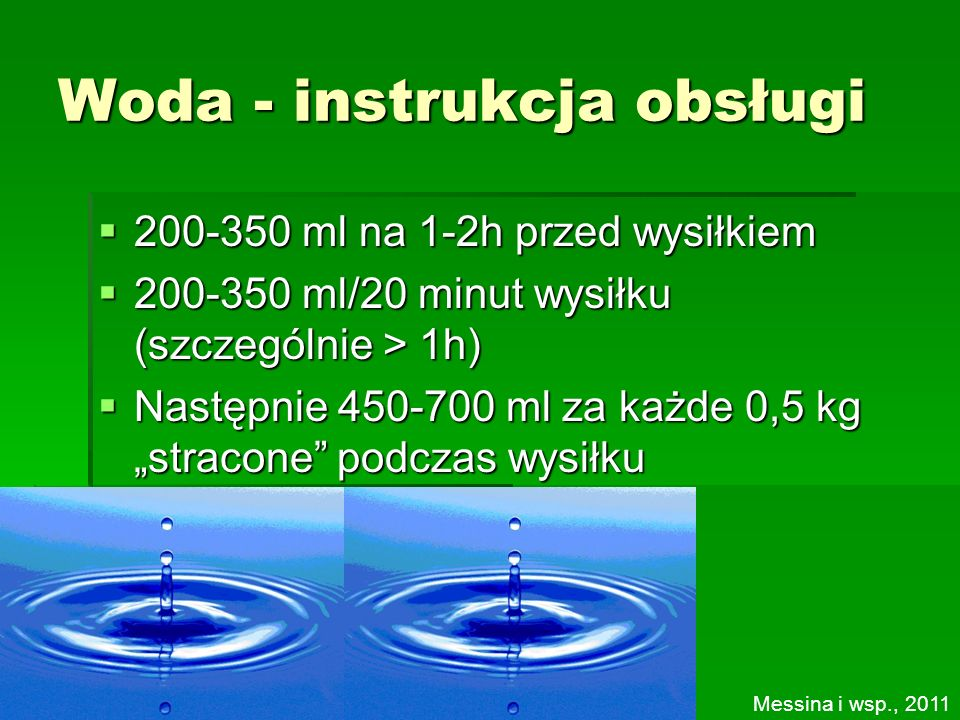 Woda - instrukcja obsługi