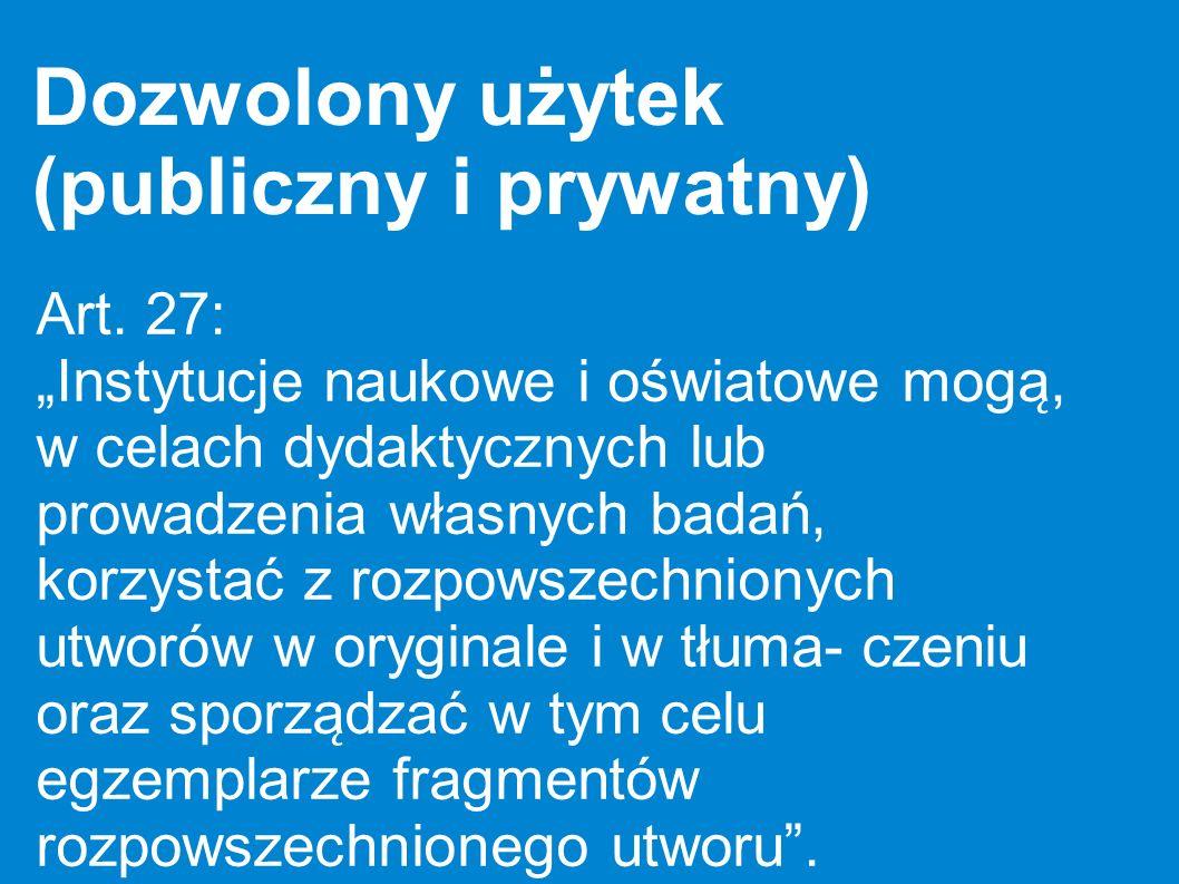 Dozwolony użytek (publiczny i prywatny)