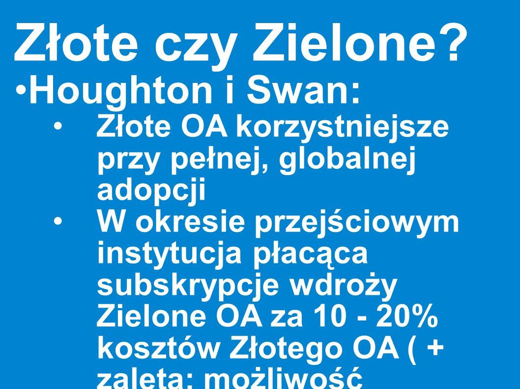 Złote czy Zielone Houghton i Swan:
