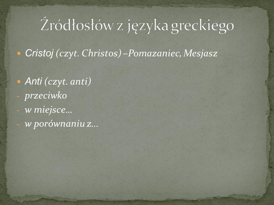 Źródłosłów z języka greckiego