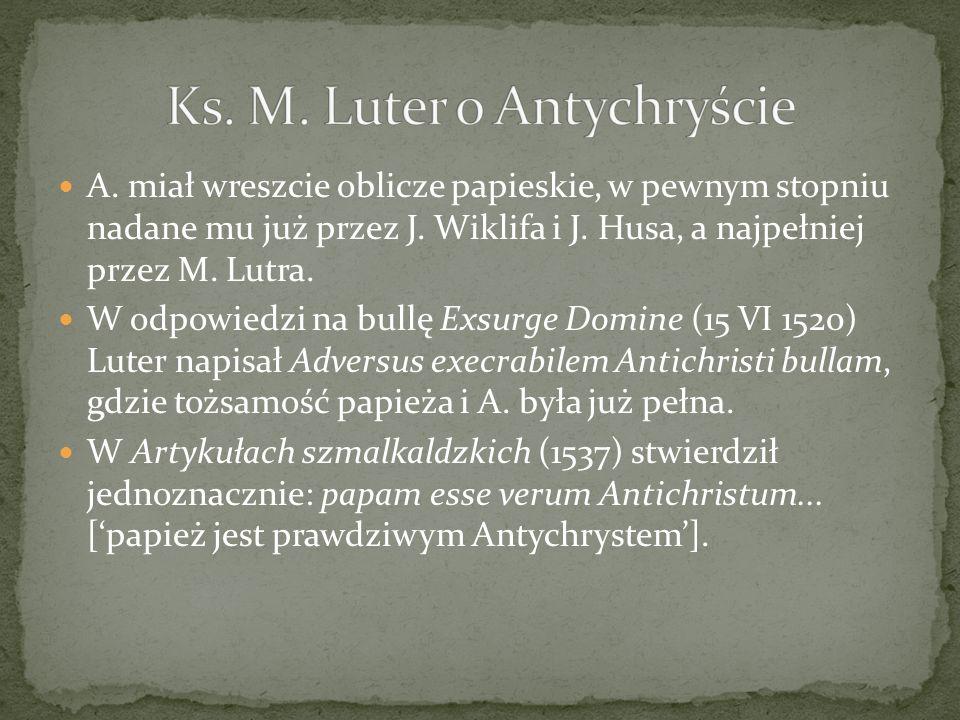 Ks. M. Luter o Antychryście