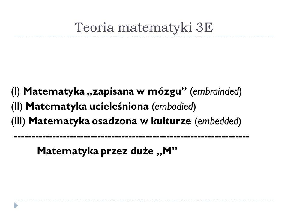 """Teoria matematyki 3E (I) Matematyka """"zapisana w mózgu (embrainded)"""