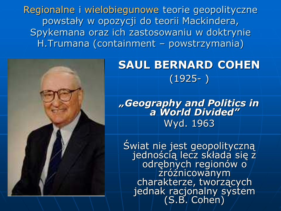 """Geography and Politics in a World Divided"