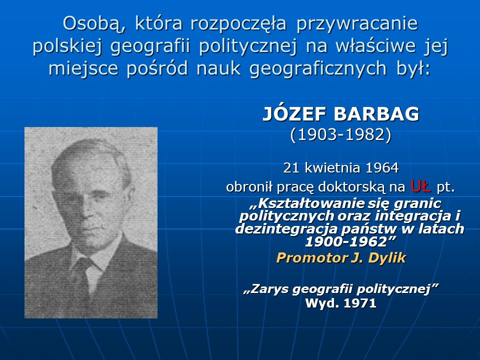"""""""Zarys geografii politycznej"""