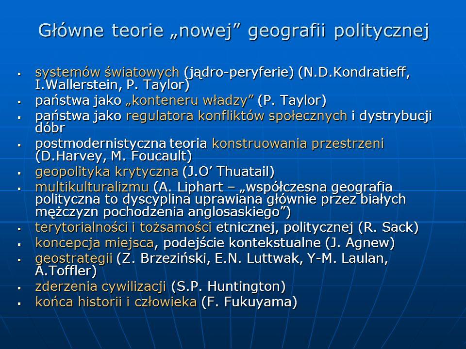 """Główne teorie """"nowej geografii politycznej"""