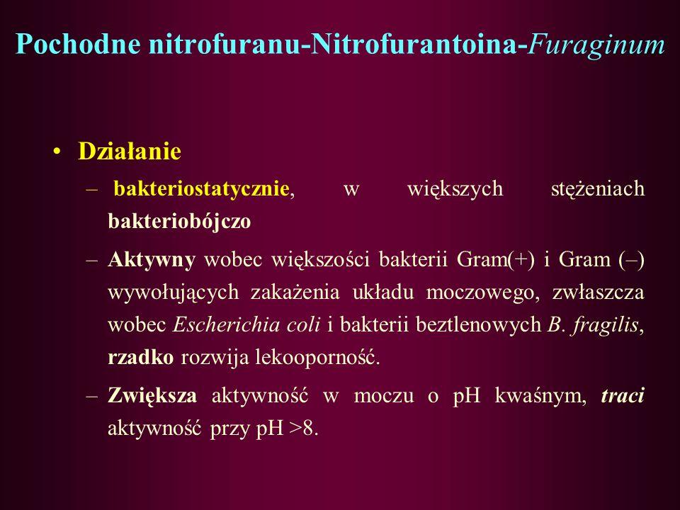 Pochodne nitrofuranu-Nitrofurantoina-Furaginum
