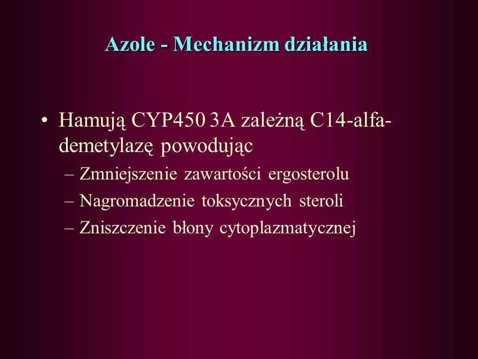 Azole - Mechanizm działania