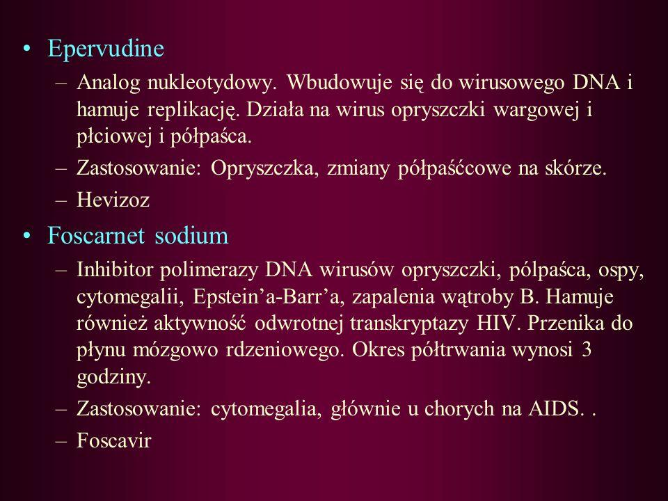 Epervudine Foscarnet sodium