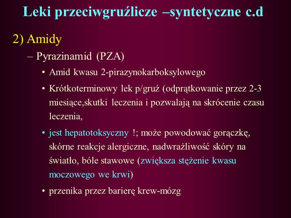 Leki przeciwgruźlicze –syntetyczne c.d