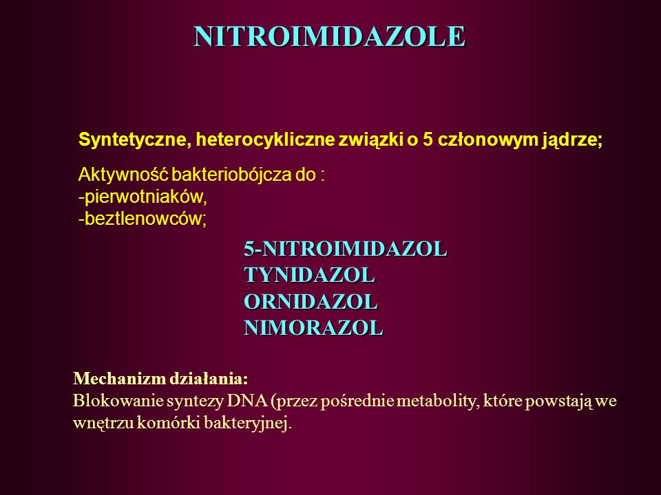 NITROIMIDAZOLE 5-NITROIMIDAZOL TYNIDAZOL ORNIDAZOL NIMORAZOL