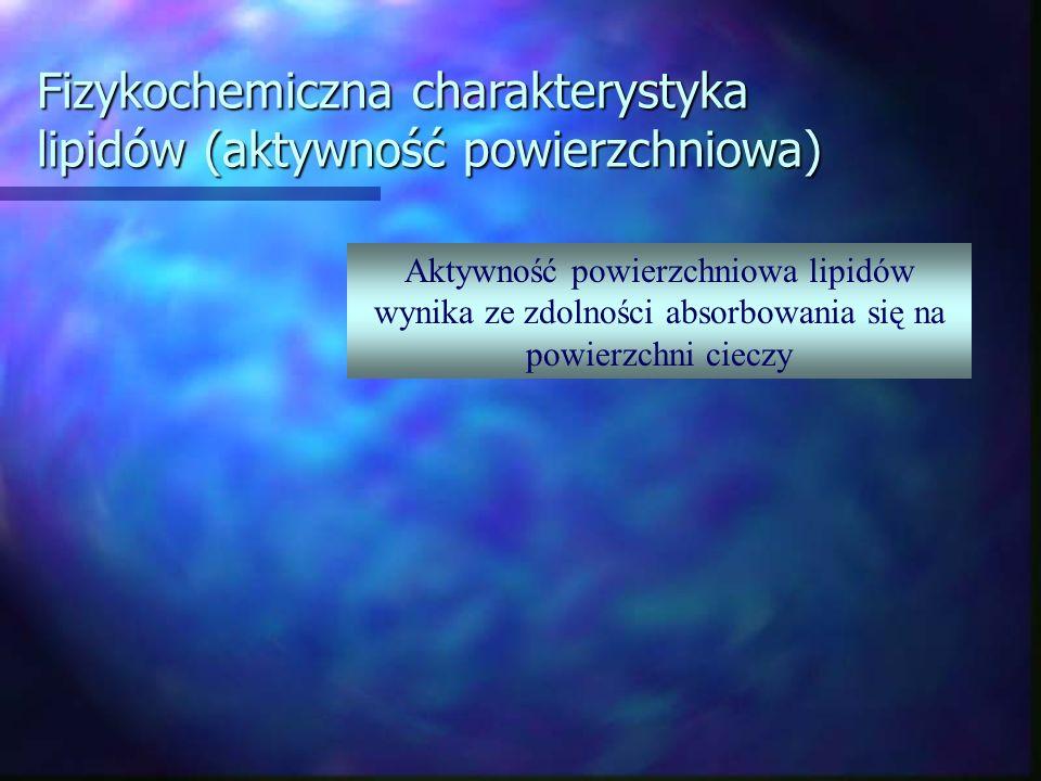 Fizykochemiczna charakterystyka lipidów (aktywność powierzchniowa)
