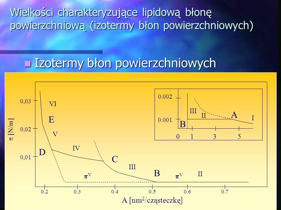 Izotermy błon powierzchniowych