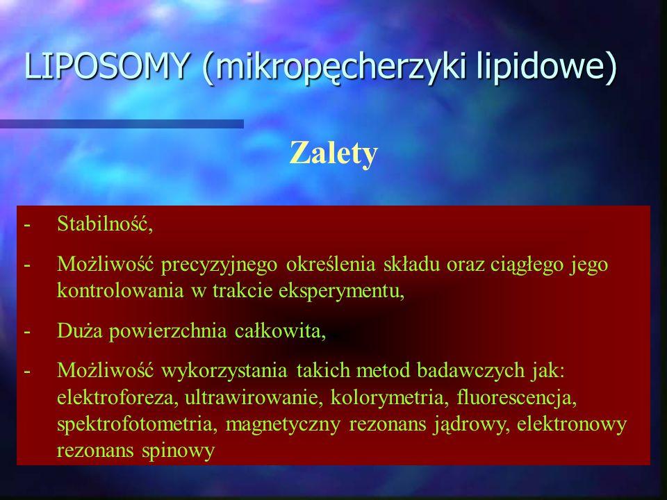 LIPOSOMY (mikropęcherzyki lipidowe)