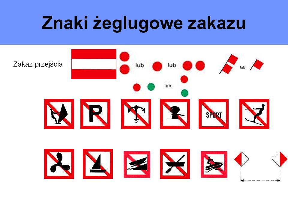 Znaki żeglugowe zakazu