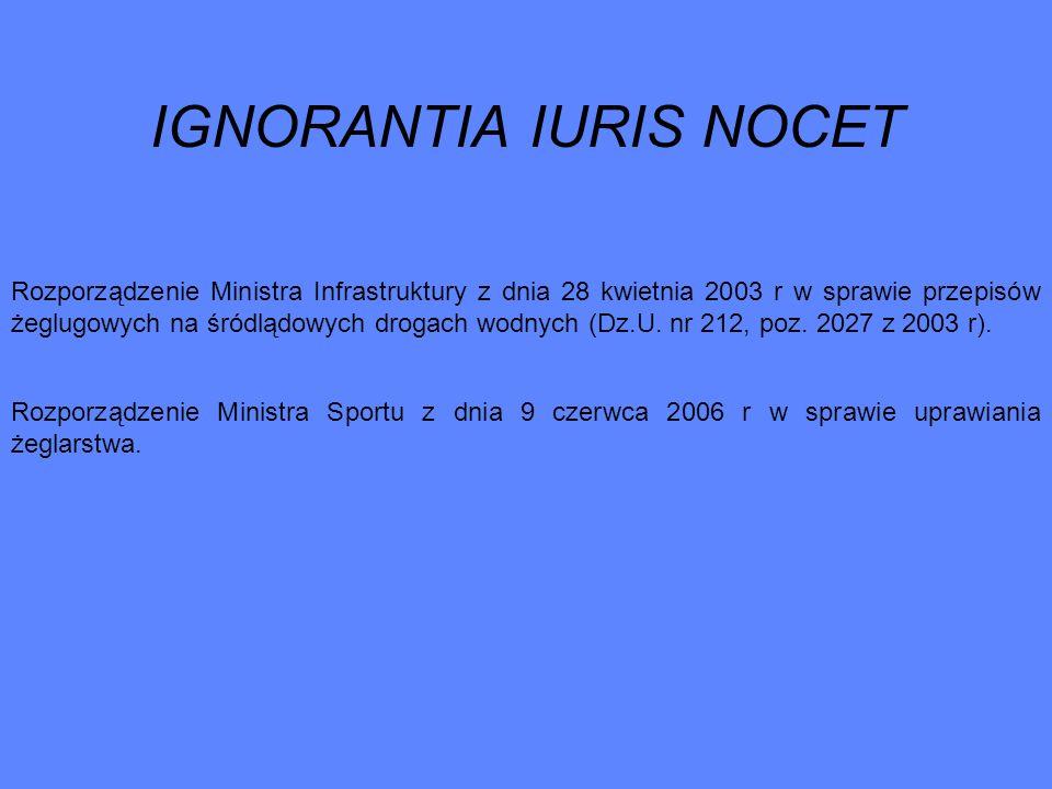 IGNORANTIA IURIS NOCET