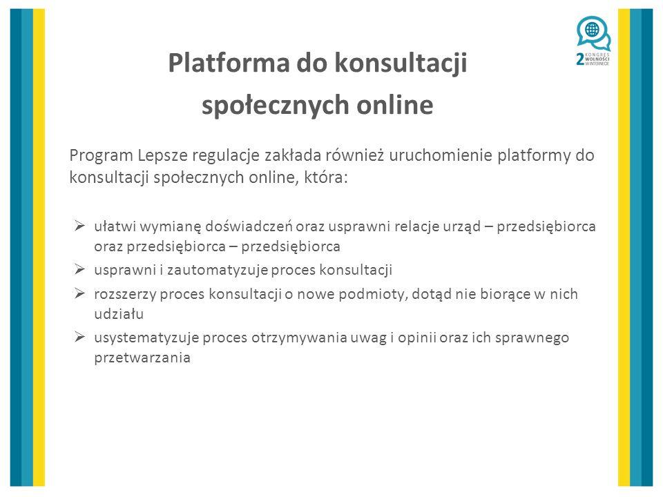 Platforma do konsultacji społecznych online