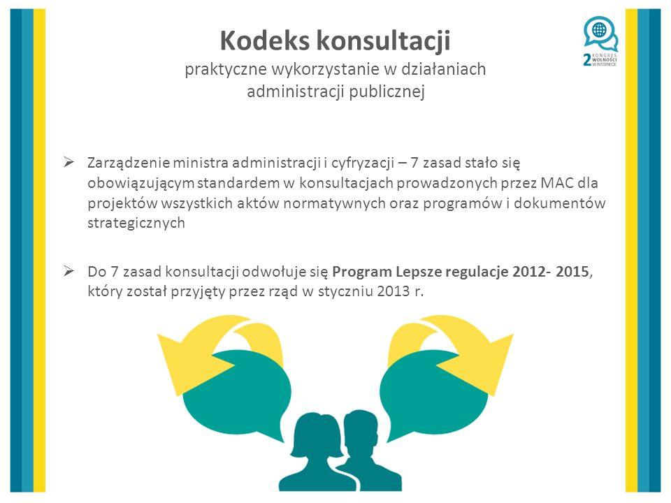 Kodeks konsultacji praktyczne wykorzystanie w działaniach administracji publicznej