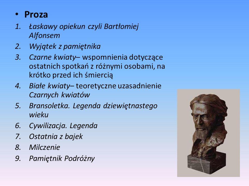 Proza Łaskawy opiekun czyli Bartłomiej Alfonsem Wyjątek z pamiętnika