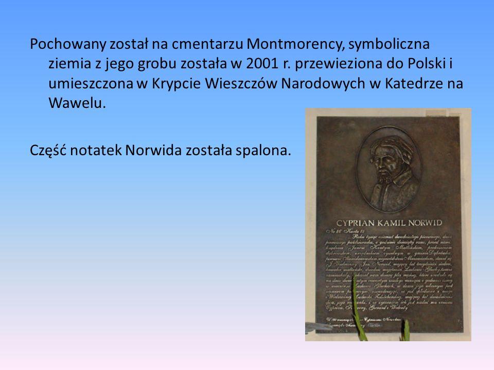Pochowany został na cmentarzu Montmorency, symboliczna ziemia z jego grobu została w 2001 r.