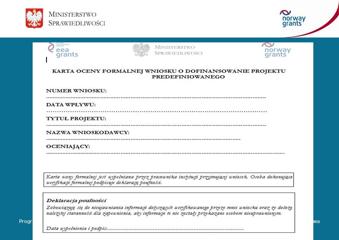 Etap oceny formalnej