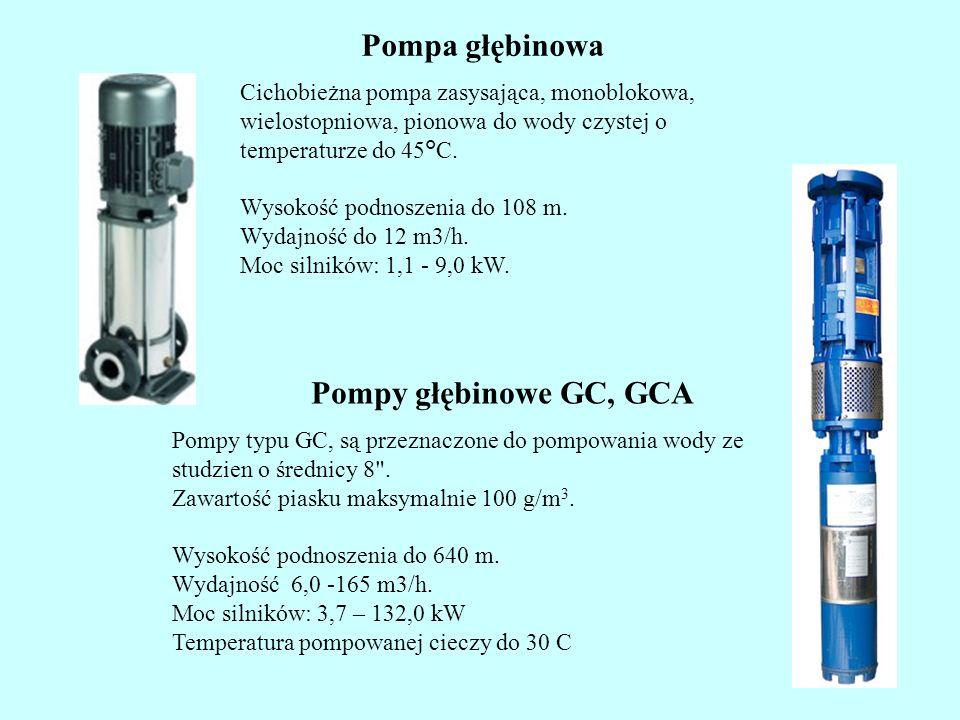 Pompa głębinowa Pompy głębinowe GC, GCA