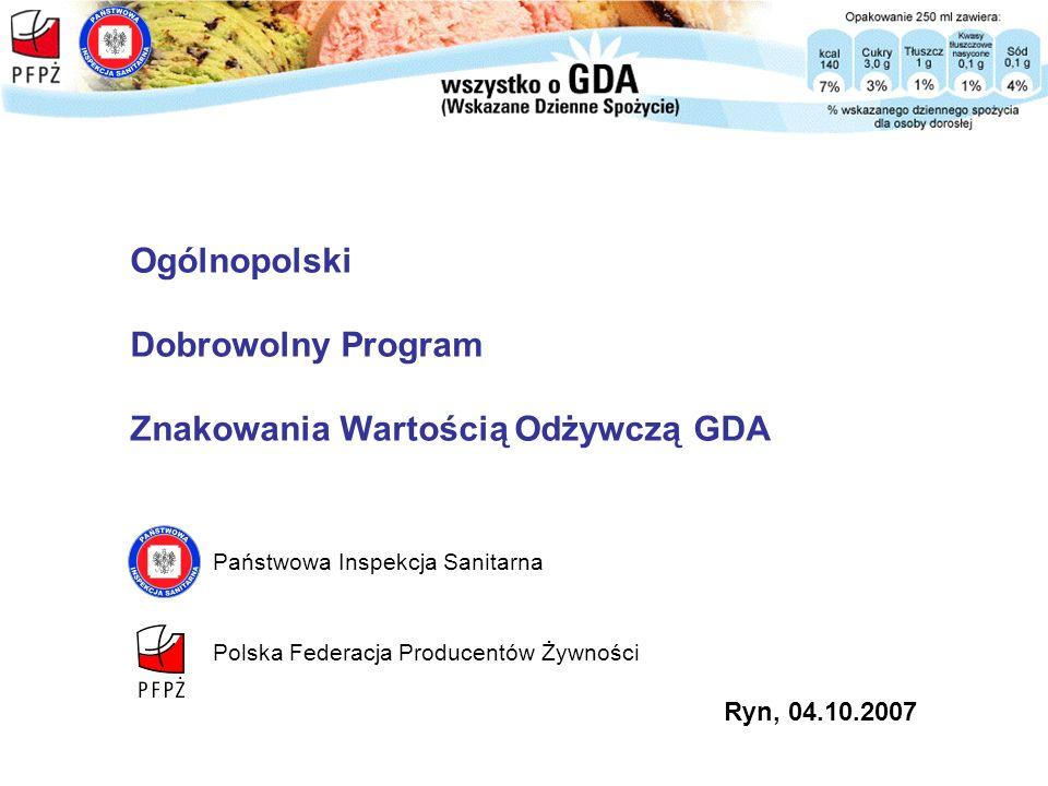 Znakowania Wartością Odżywczą GDA
