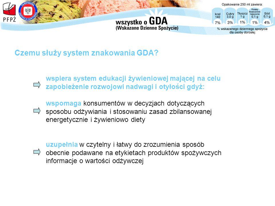Czemu służy system znakowania GDA