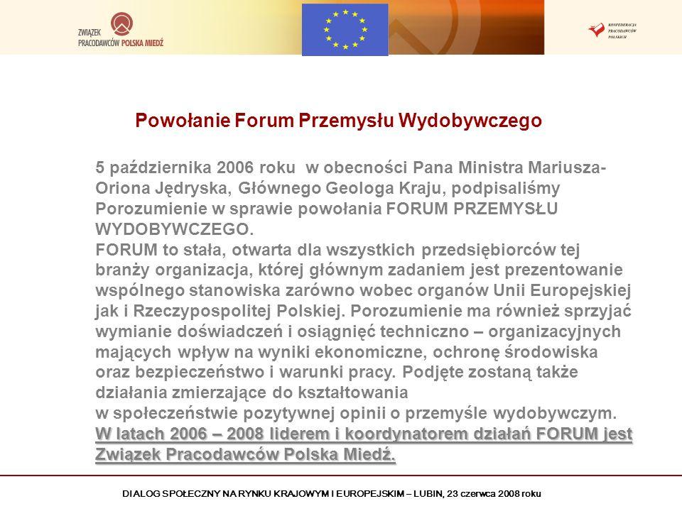 Powołanie Forum Przemysłu Wydobywczego