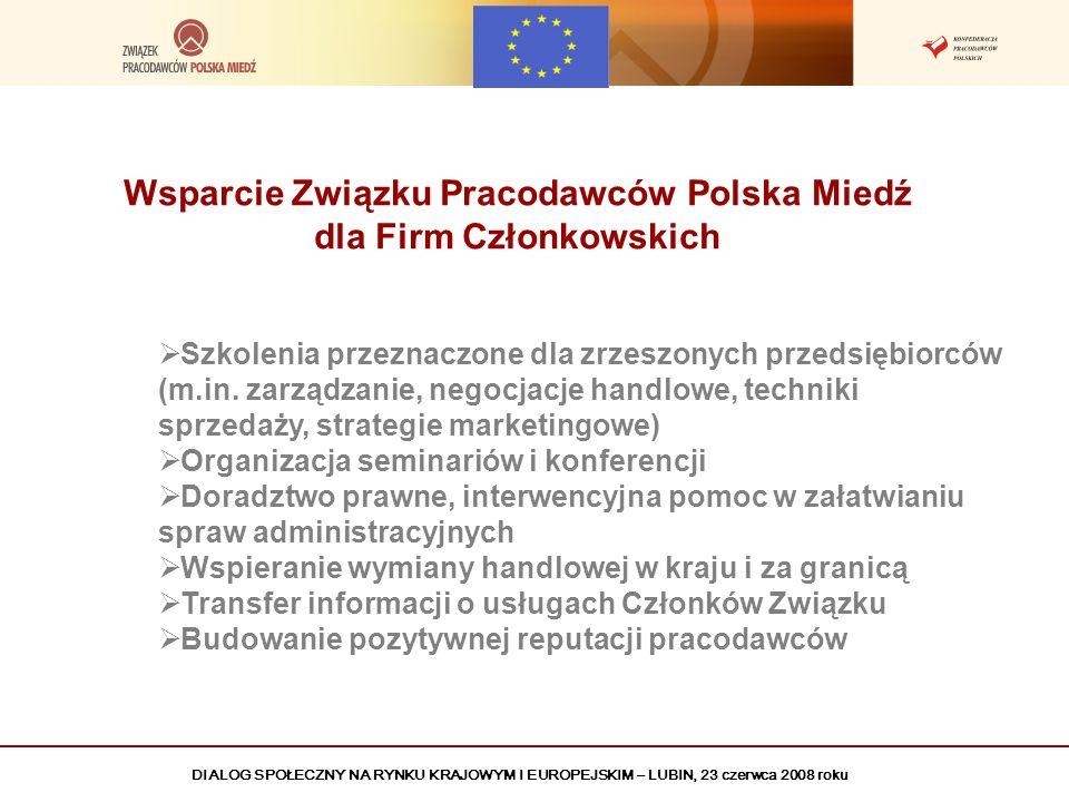 Wsparcie Związku Pracodawców Polska Miedź dla Firm Członkowskich