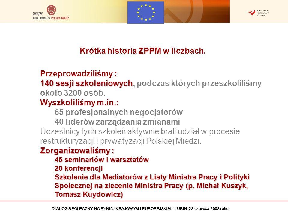 Krótka historia ZPPM w liczbach.