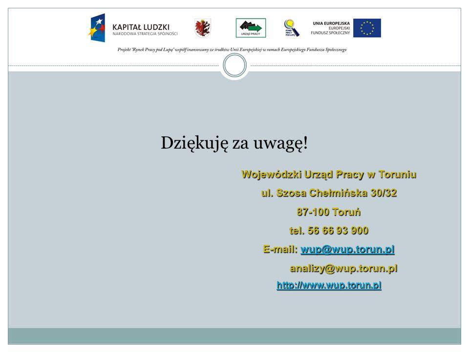 Wojewódzki Urząd Pracy w Toruniu E-mail: wup@wup.torun.pl