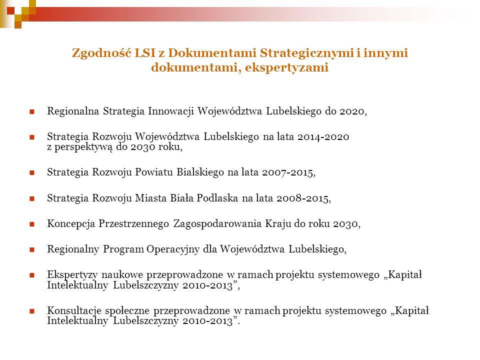 Zgodność LSI z Dokumentami Strategicznymi i innymi dokumentami, ekspertyzami
