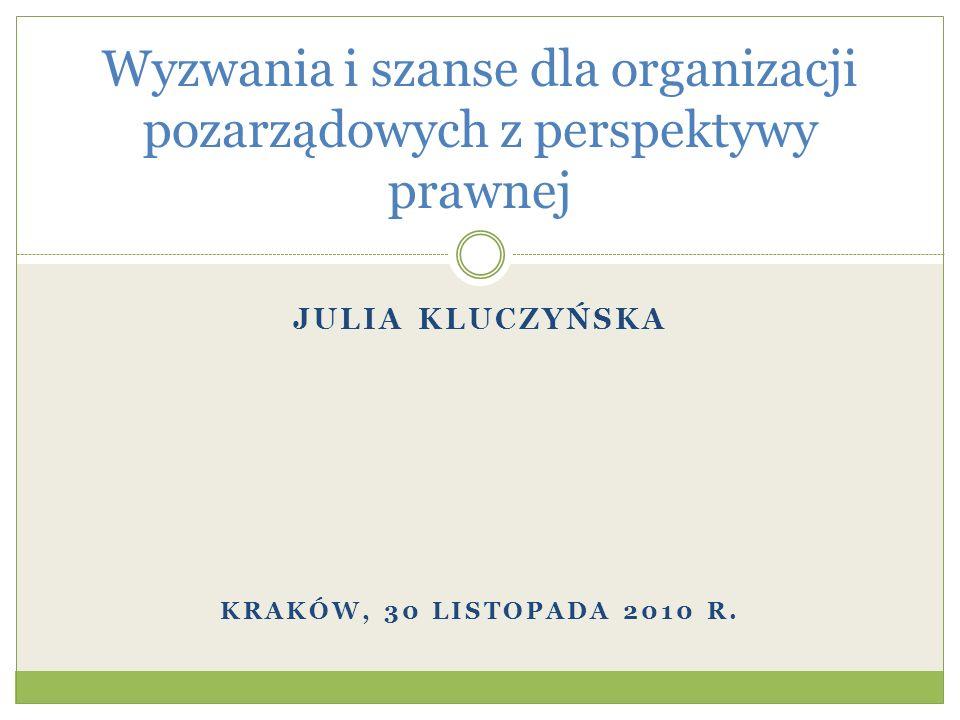 Wyzwania i szanse dla organizacji pozarządowych z perspektywy prawnej