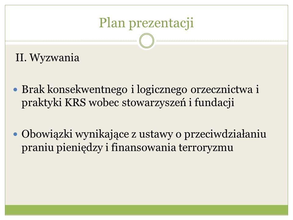Plan prezentacji II. Wyzwania