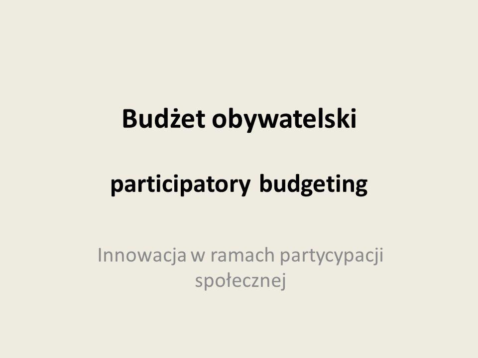 Budżet obywatelski participatory budgeting