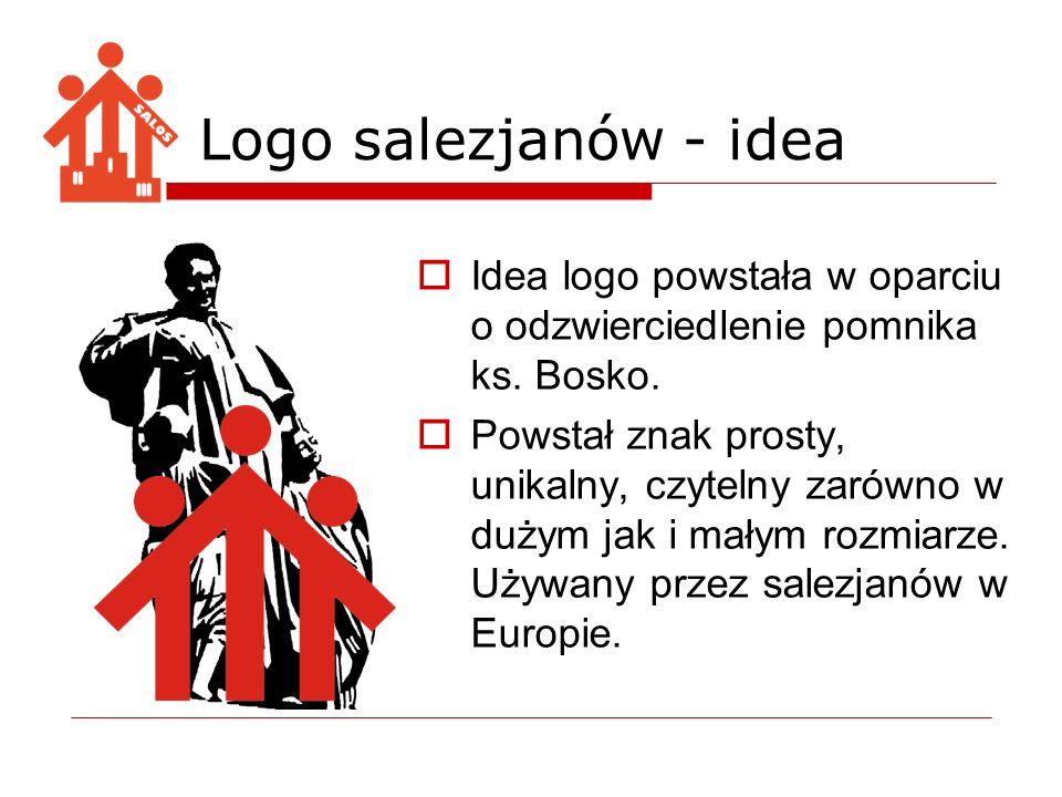 Logo salezjanów - idea Idea logo powstała w oparciu o odzwierciedlenie pomnika ks. Bosko.