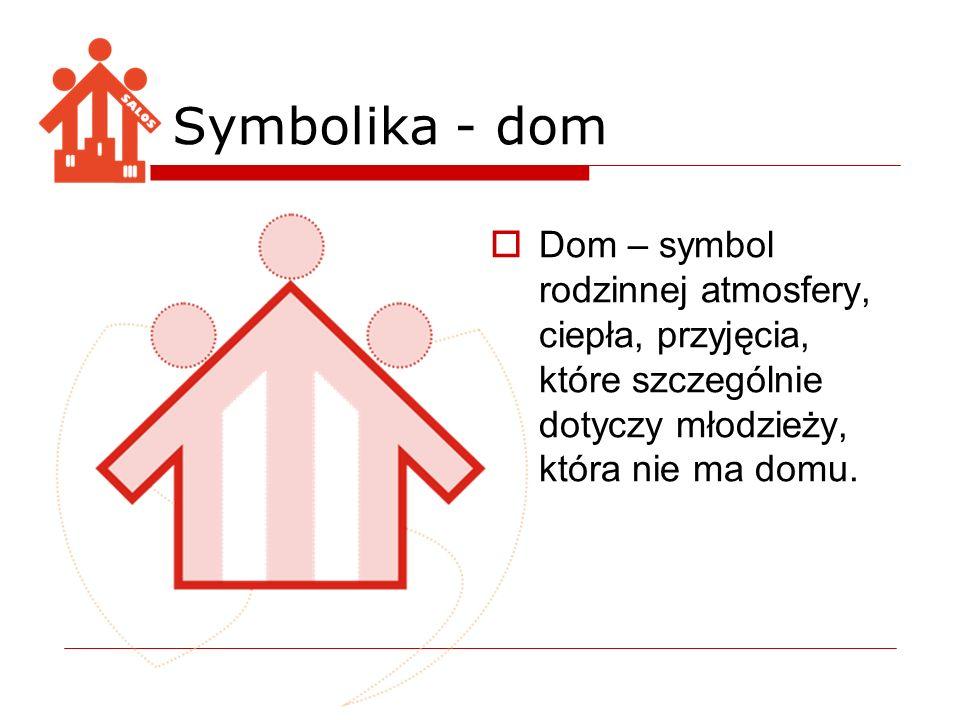 Symbolika - dom Dom – symbol rodzinnej atmosfery, ciepła, przyjęcia, które szczególnie dotyczy młodzieży, która nie ma domu.
