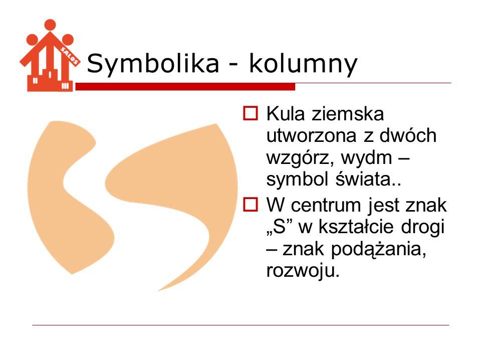 Symbolika - kolumny Kula ziemska utworzona z dwóch wzgórz, wydm – symbol świata..