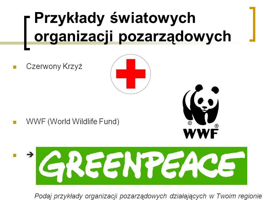 Przykłady światowych organizacji pozarządowych