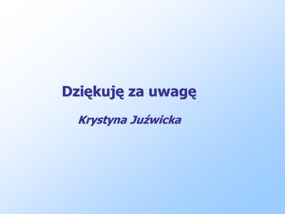 Dziękuję za uwagę Krystyna Juźwicka
