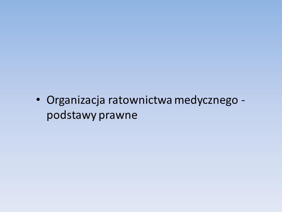 Organizacja ratownictwa medycznego - podstawy prawne